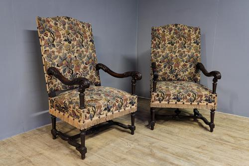 Pair of French Walnut Armchairs (1 of 7)