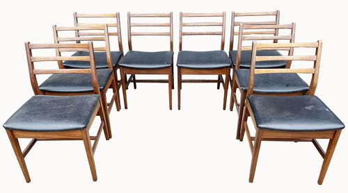 Superb Set of Eight Danish Solid Teak Dining Chairs (1 of 5)