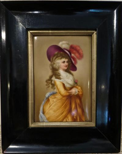 Framed Porcelain Plaque of The Duchess of Devonshire (1 of 4)