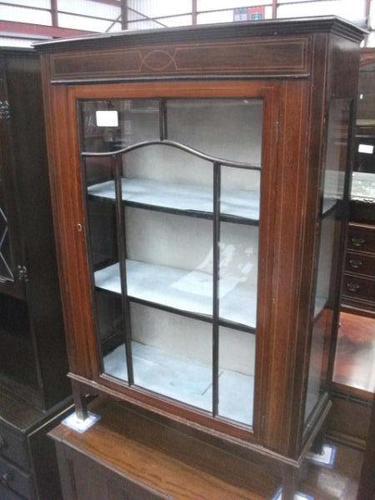 Small Edwardian Inlaid Mahogany Cabinet (1 of 4)