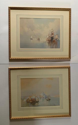 William Knox - Pair of Watercolours of Venice (1 of 5)
