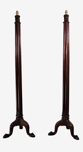 Mahogany Floor Lamps (1 of 4)