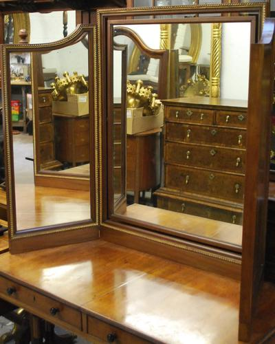 Large French triptych dressing table mirror (1 of 7)