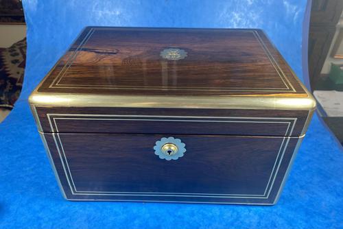 Georgian  Rosewood Brassbound Vanity Box (1 of 34)