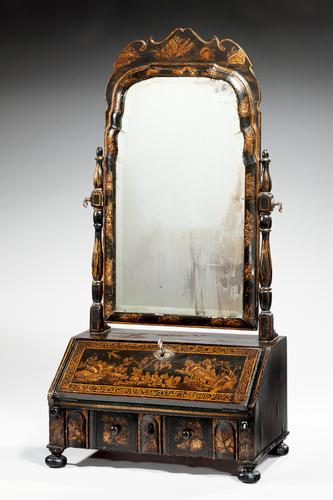 Queen Anne Period Lacquered Dressing Mirror (1 of 9)