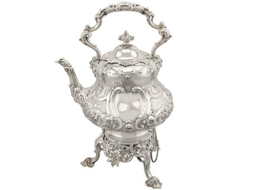 Sterling Silver Louis Spirit Kettle - Antique Victorian 1855 (1 of 18)