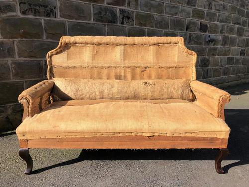 Antique English Upholstered Sofa for Recovering (1 of 7)