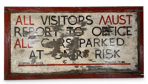 Hand Painted Prison Sign (1 of 5)