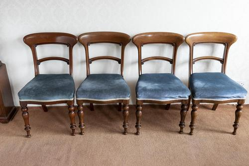 Set of Four Mid Victorian, Bar Back Dining Chairs (1 of 4)
