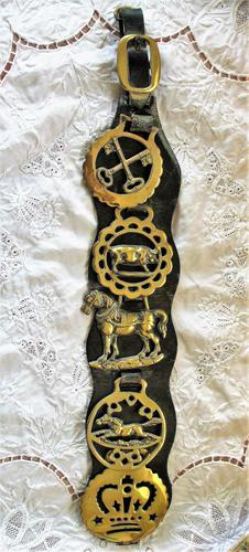 Antique English Victorian Five Brass Martingale (1 of 4)