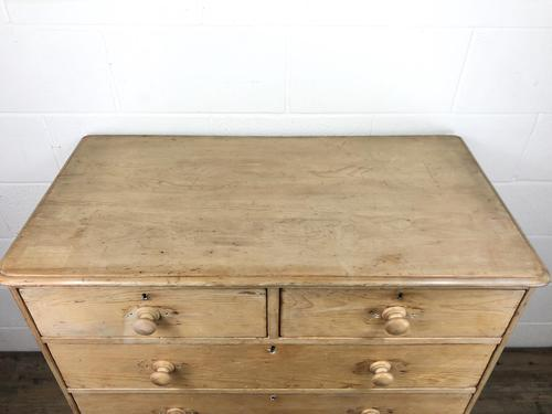 Victorian Antique Pine Chest of Drawers (1 of 10)