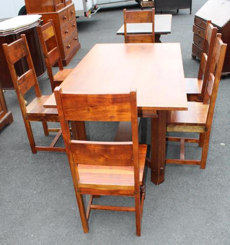 1960's Teak Refectory Table & Set of 6 Dining Chairs '4+2 Carvers' (1 of 3)