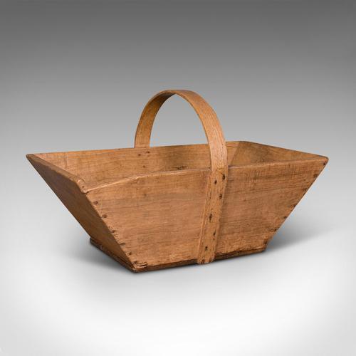 Antique Garden Trug, French, Pine, Horticulture Basket, Victorian c.1900 (1 of 11)