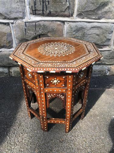 Antique Anglo Indian Hoshiarpur Folding Coffee Table (1 of 5)
