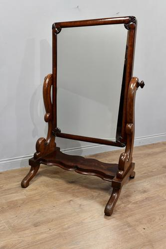 Antique Mahogany Free Standing Dressing Mirror (1 of 4)