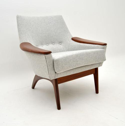 1960's Danish Afromosia & Wool Armchair (1 of 9)
