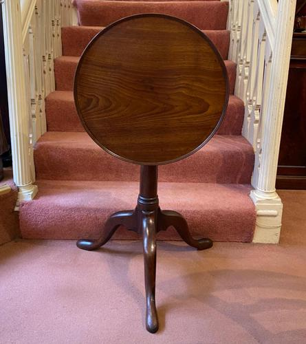 18th Century Red Walnut Tilt Top Occasional Table of smaller size (1 of 8)