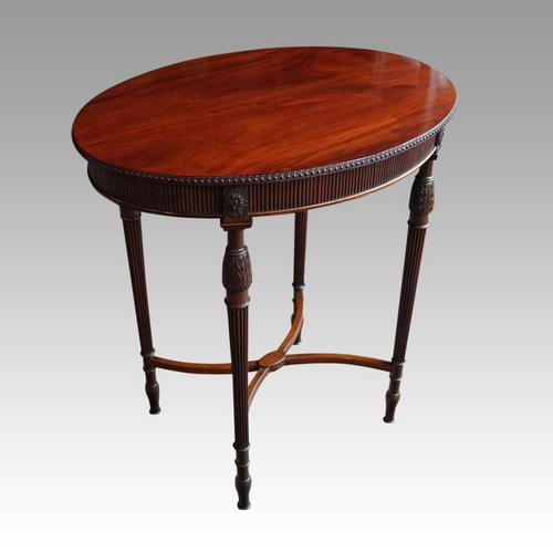 Edwardian Mahogany Oval Occasional Table (1 of 7)