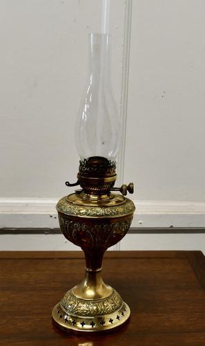 German Brass Oil Lamp by Kaestner & Tobelman, Erfurt (1 of 5)