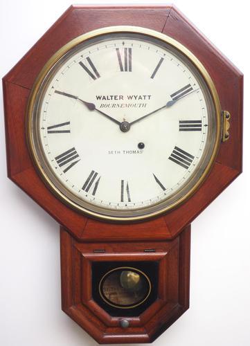 Impressive Victorian American Drop Dial Wall Clock 8 Day Movement Seth Thomas (1 of 12)