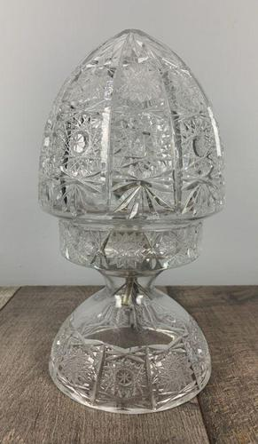 Cut Glass Mushroom Table Lamp, Rewired & PAT Tested c.1920 (1 of 9)