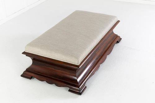 English Regency Rosewood Ottoman (1 of 7)