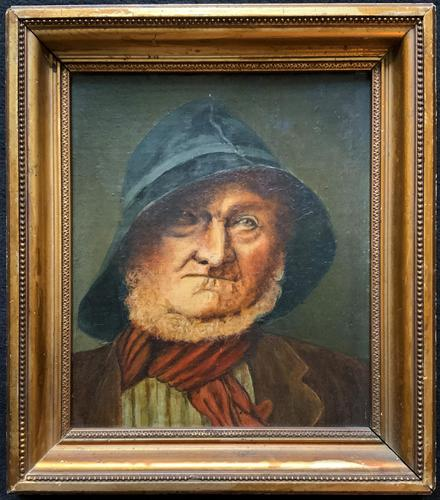'The Old man' Original Antique 19th Century Victorian Oil Portrait Painting (1 of 11)