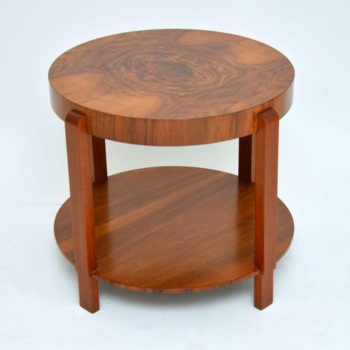 1920's Art Deco Period Walnut Coffee Table (1 of 7)