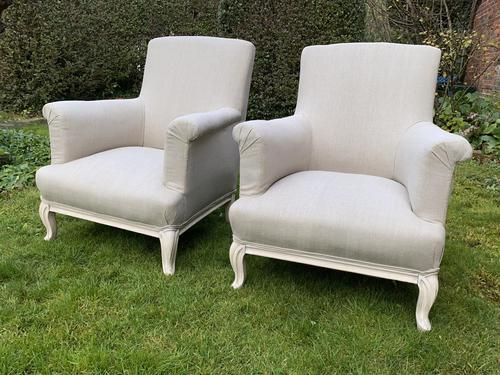 Pair of Large French Armchairs (1 of 7)