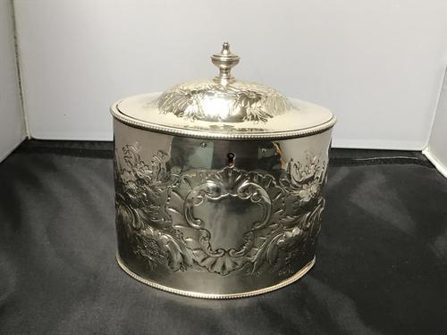 George III Silver Tea Caddy (1 of 5)