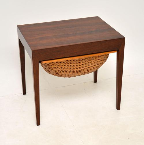 Danish Rosewood Vintage Sewing Table by Severin Hansen (1 of 12)