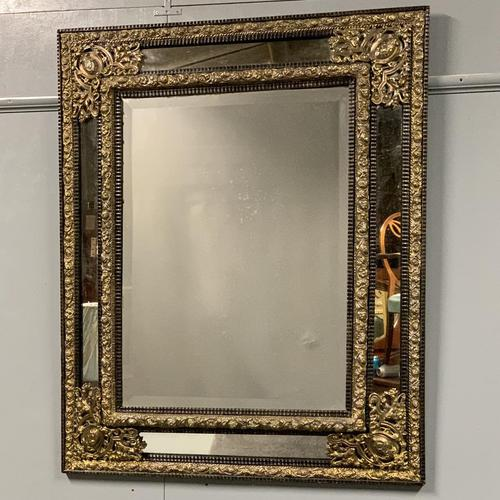 Large 19th Century French Repousse Mirror (1 of 7)