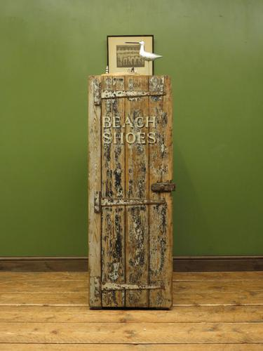 Rustic Painted Beach Shoes Cabinet, Boat House, Beach Hut Shabby Chic Cabinet (1 of 18)
