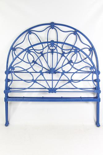 Antique Victorian All Iron Double Bed (1 of 13)