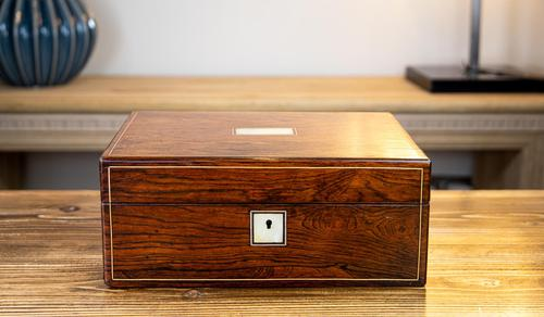 Rosewood Victorian Table Box 1870 (1 of 9)