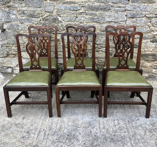 Set of 6 Georgian Mahogany Dining Chairs (1 of 21)