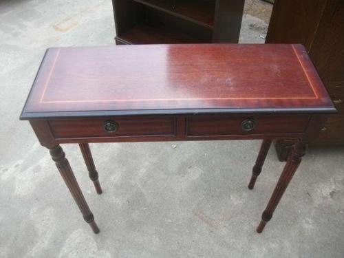 Mahogany Console Table on Splined Legs (1 of 2)