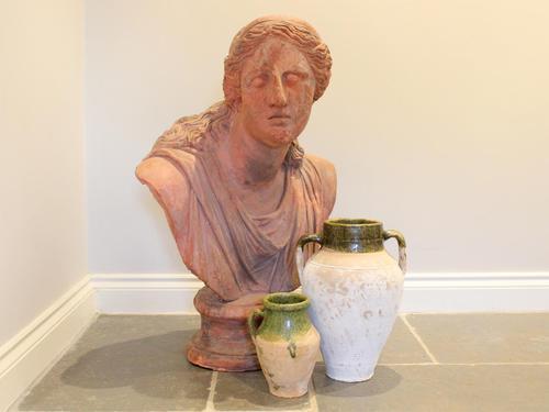 Huge 20th Century Terracotta Head of Niobe Classical Bust (1 of 6)