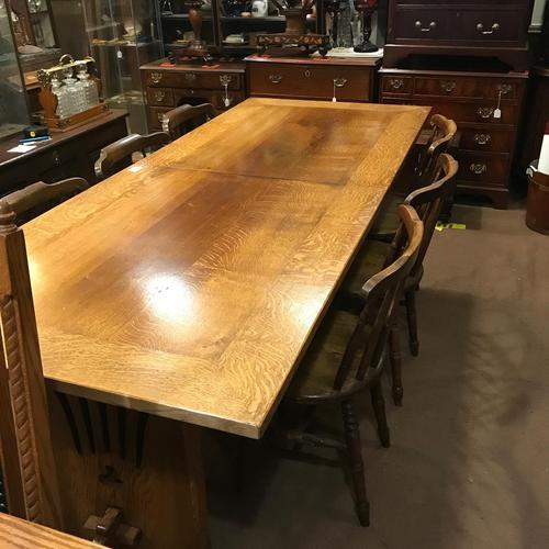Large Oak Extending Refectory Table (1 of 6)