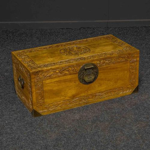 Mid 20th Century Camphor Wood Trunk (1 of 8)