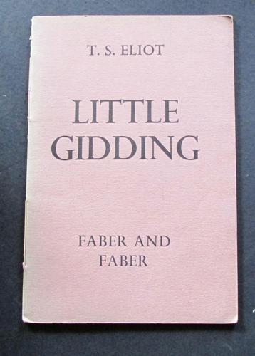 1942 Little Gidding by T S Eliot 1st UK Edition First Impression (1 of 4)