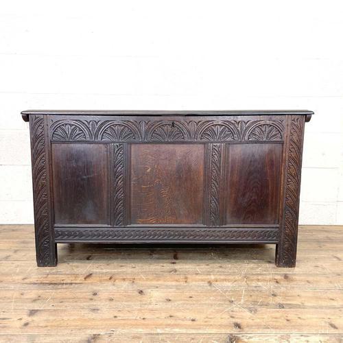 18th Century Antique Oak Panelled Coffer (1 of 12)