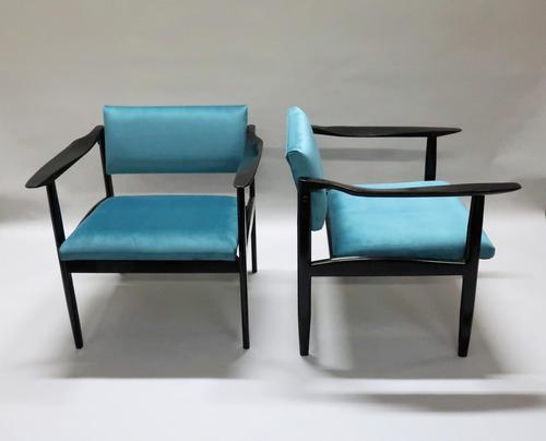 Pair of Italian Mid Century Ebonised Armchairs (1 of 7)