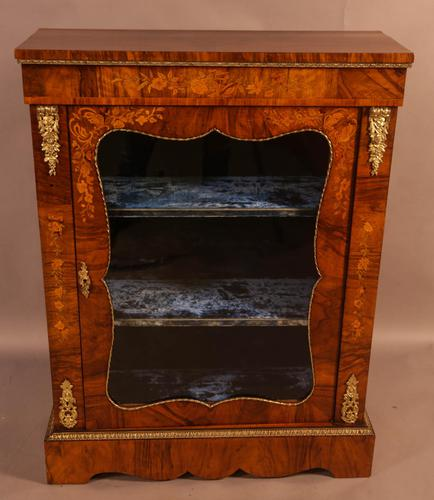 Victorian Pier Cabinet in Burr Walnut (1 of 8)
