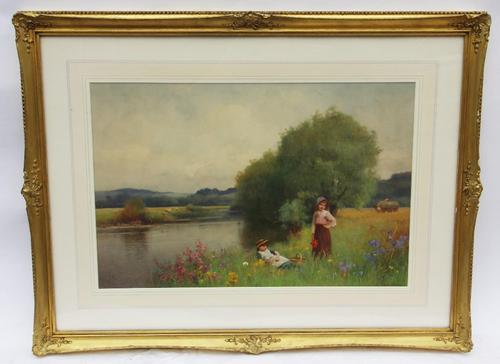 Summertime in Sussex - Watercolour by B. D. Sigmund c.1930 (1 of 3)