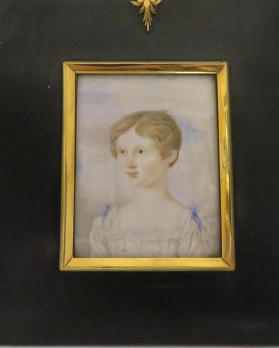 Georgian Portrait Miniature Angelic Young Girl C.1780 (1 of 5)