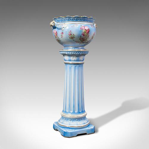 Antique Jardinière on Stand, English, Ceramic, Decorative Planter, Victorian (1 of 12)