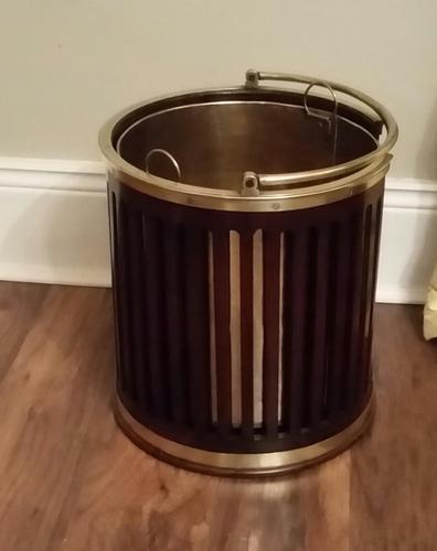 George III Mahogany & Brass Bound Plate Bucket (1 of 6)