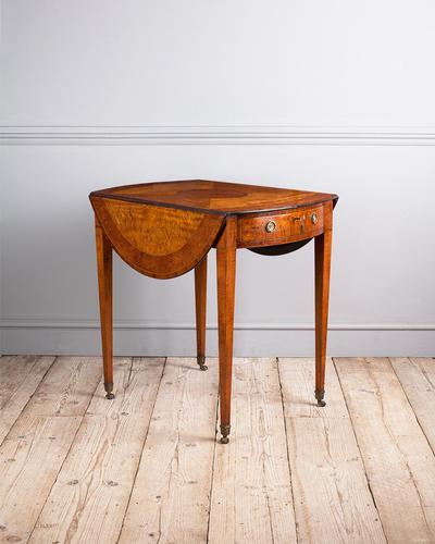 Sheraton Period Satinwood Pembroke Table (1 of 7)