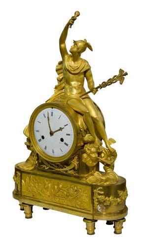 Fine French Empire Ormolu Mantel Clock (1 of 9)